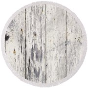 Weathered Paint On Wood Round Beach Towel by Tim Hester