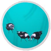 What About Me Round Beach Towel by Jan Matson