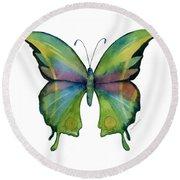 11 Prism Butterfly Round Beach Towel by Amy Kirkpatrick