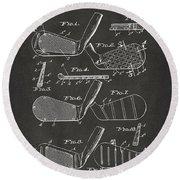 1936 Golf Club Patent Artwork - Gray Round Beach Towel by Nikki Marie Smith