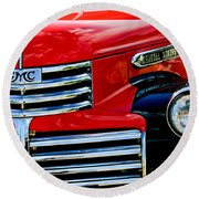 1942 Gmc  Pickup Truck Round Beach Towel by Jill Reger