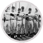 1961 San Francisco Giants Round Beach Towel by Underwood Archives