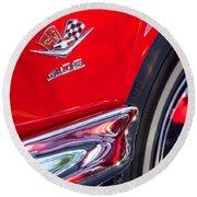 1962 Chevrolet Impala Ss 409 Emblem Round Beach Towel by Jill Reger