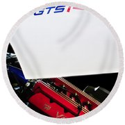 1998 Dodge Viper Gts-r Engine Round Beach Towel by Jill Reger