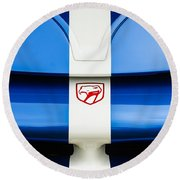 1998 Dodge Viper Gts-r Grille Emblem Round Beach Towel by Jill Reger