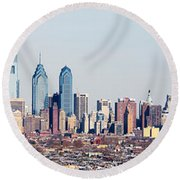 Buildings In A City, Comcast Center Round Beach Towel by Panoramic Images