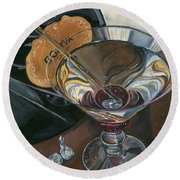 Chocolate Martini Round Beach Towel by Debbie DeWitt