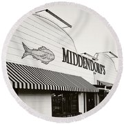 Middendorf's Round Beach Towel by Scott Pellegrin