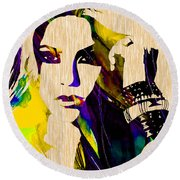 Shakira Collection Round Beach Towel by Marvin Blaine