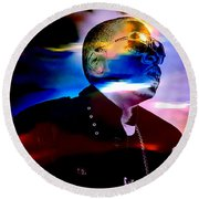 Jay Z Collection Round Beach Towel by Marvin Blaine
