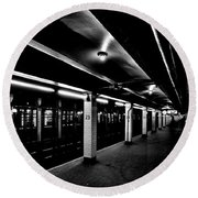23rd Street Station Round Beach Towel by Benjamin Yeager