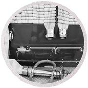 1952 L Model Mack Pumper Fire Truck Round Beach Towel by Jill Reger