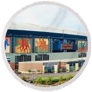 High Angle View Of A Baseball Stadium Round Beach Towel by Panoramic Images
