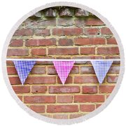 Bunting Round Beach Towel by Tom Gowanlock