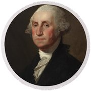 George Washington Round Beach Towel by Gilbert Stuart