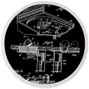 Pinball Machine Patent 1939 - Black Round Beach Towel by Stephen Younts