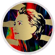 Hillary Clinton Gold Series Round Beach Towel by Marvin Blaine