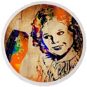 Shirley Temple Collection Round Beach Towel by Marvin Blaine