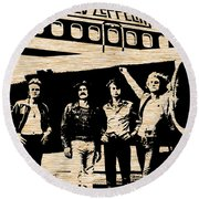 Led Zeppelin Round Beach Towel by Marvin Blaine