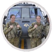 A U.s. Army All Female Crew Round Beach Towel by Stocktrek Images
