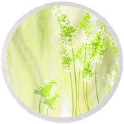 About Spring Round Beach Towel by Lourry Legarde