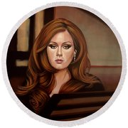 Adele Round Beach Towel by Paul Meijering