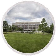 Admissions Building At Michigan State University Round Beach Towel by John McGraw