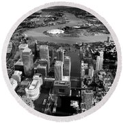 Aerial View Of London 5 Round Beach Towel by Mark Rogan