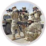 Round Beach Towel featuring the photograph Air Force Squadron by Science Source