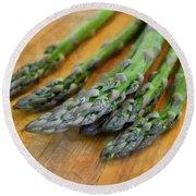 Asparagus Round Beach Towel by Michelle Calkins