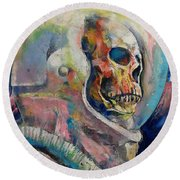 Astronaut Round Beach Towel by Michael Creese