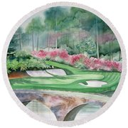 Augusta National 12th Hole Round Beach Towel by Deborah Ronglien