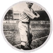 Babe Ruth Round Beach Towel by Bill Cannon