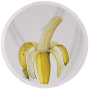 Banana Round Beach Towel by Alison Cooper