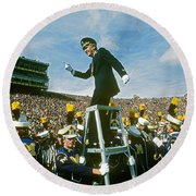 Band Director Round Beach Towel by James L. Amos