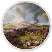 Battle Of Moscow Round Beach Towel by Louis Lejeune