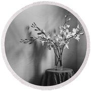 Beautiful Melancholy Round Beach Towel by Amy Weiss
