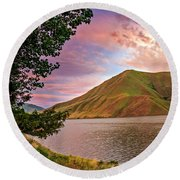 Beautiful Sunrise Round Beach Towel by Robert Bales