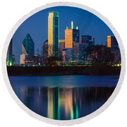 Big D Reflection Round Beach Towel by Inge Johnsson