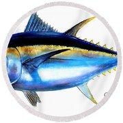 Big Eye Tuna Round Beach Towel by Carey Chen