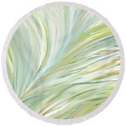 Blooming Grass Round Beach Towel by Lourry Legarde