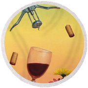 Body And Soul Round Beach Towel by James W Johnson