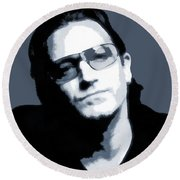 Bono Round Beach Towel by Dan Sproul