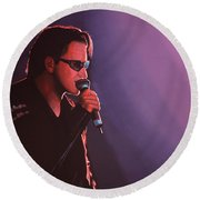 Bono U2 Round Beach Towel by Paul Meijering
