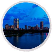 Boston Evening Round Beach Towel by Rick Berk