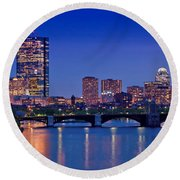 Boston Nights 2 Round Beach Towel by Joann Vitali