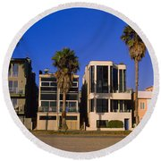 Buildings In A City, Venice Beach, City Round Beach Towel by Panoramic Images