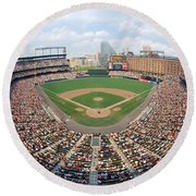 Camden Yards Baltimore Md Round Beach Towel by Panoramic Images