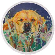 Cannonball Round Beach Towel by Kimberly Santini