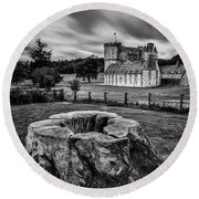 Castle Fraser Round Beach Towel by Dave Bowman